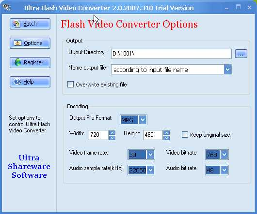 Ultra Flash Video Converter 2.0.2007.318 Trial Version.jpg